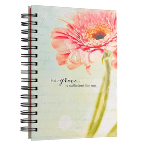 His Grace Is Sufficient Hardcover Wirebound Journal - Atrio Hill