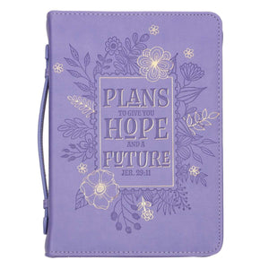 Hope and Future Purple Bible Cover - Jeremiah 29:11