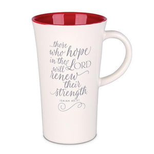Hope In The Lord Latte Mug - Atrio Hill