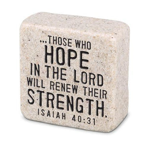 Hope In The Lord Scripture Stone