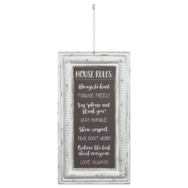 House Rules Pressed Tin Wall Sign - Atrio Hill