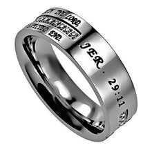 I Know Jeremiah 29:11 Crescent Cross Ring