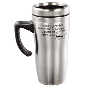 I Know The Plans Stainless Steel Travel Mug