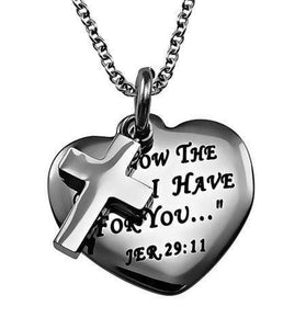 I Know The Plans Sweetheart Cross Necklace