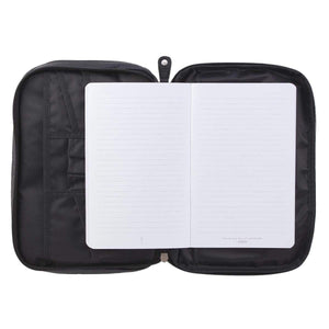 Ichthus Genuine Leather Bible Cover In Black