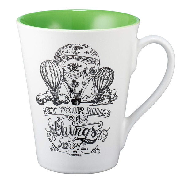 Illustrated Scripture Mug Set Your Mind On Things Above