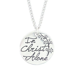 In Christ Alone Christian Necklace