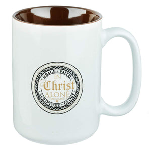 In Christ Alone Stoneware Coffee Mug - Atrio Hill