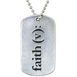J.C.I.D. Faith Dog Tag Necklace