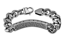 Men's Cable Bracelet Forgiven Bible Verse - Atrio Hill