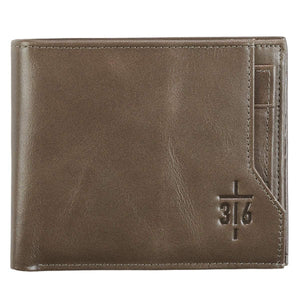 John 3:16 Cross Leather Wallet - Atrio Hill