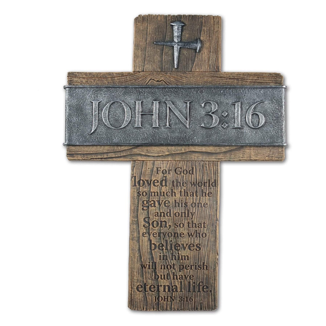 John 3:16 Wall Cross - Atrio Hill