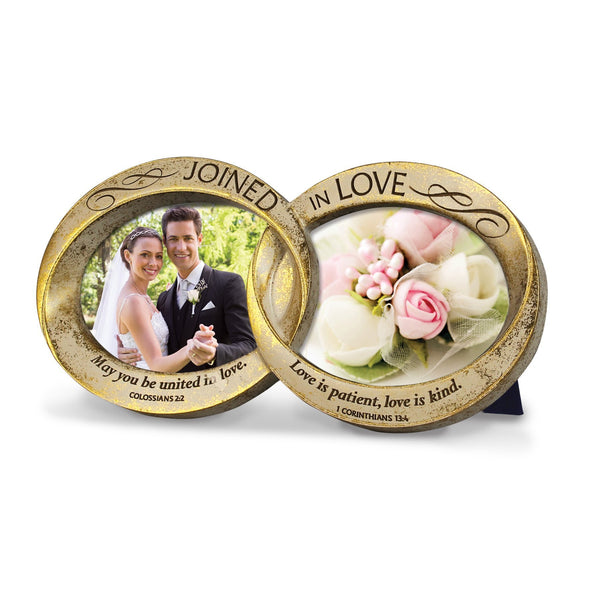 Joined in Love Double Wedding Rings Photo Frame