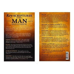 Key Scriptures For Men (pack of 6)