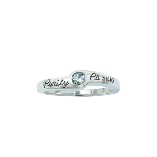 Ladies Sterling Silver Purity Ring