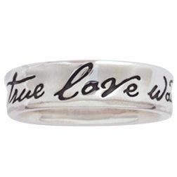 Ladies Sterling Silver True Love Waits Ring