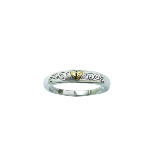Ladies Two Tone Gold And Silver Cross Ring