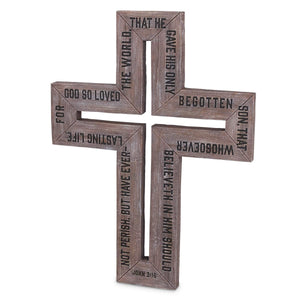 Large Barn Wood Wall Cross