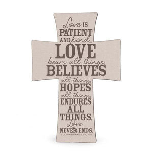 Love Is Patient Wall Cross