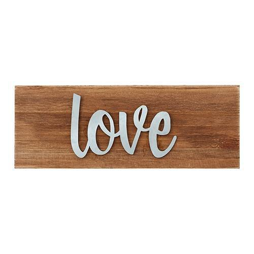 Love Wood Tabletop Plaque