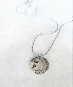 Love You To The Moon And Back Charm Necklace