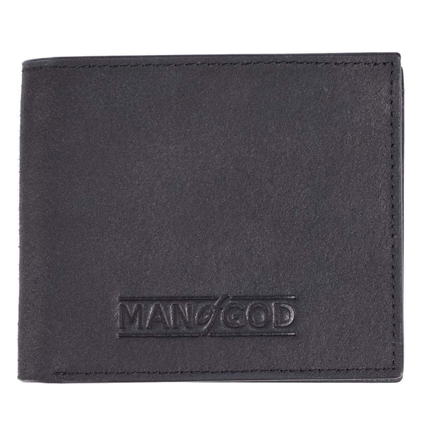Man Of God Black Leather Wallet