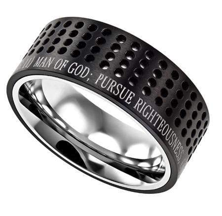 Man Of God Black Sport Ring