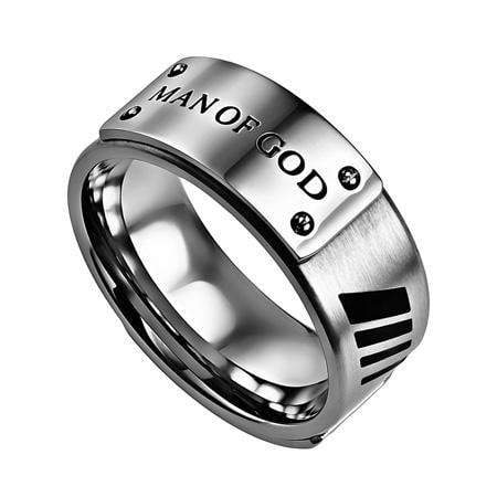 Man Of God Deluxe Silver Ring