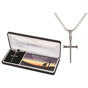 Man Of God Nail Cross Necklace