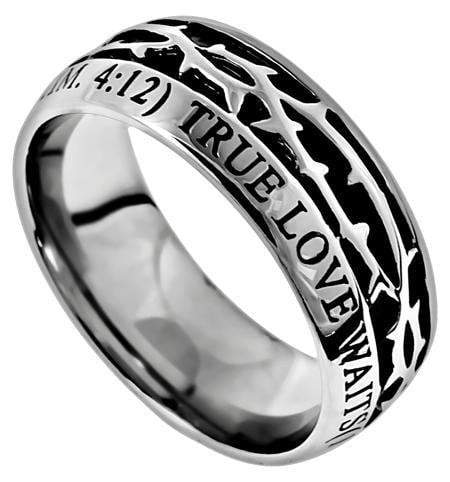 Men's Crown Of Thorns Ring True Love Waits
