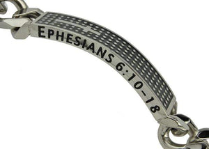 Men's Shield Cross Bracelet Armor Of God