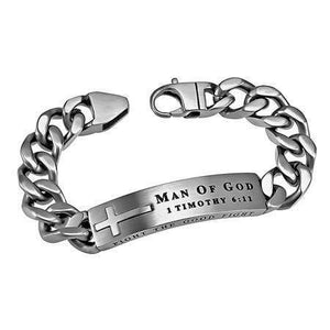 Men's Silver Neo Bracelet Man Of God
