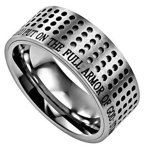 Men's Silver Sport Ring Armor Of God
