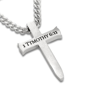 Men's Stainless Steel Sword Cross Necklace Man of God