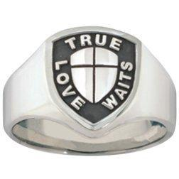 Men's Sterling Silver True Love Waits Ring