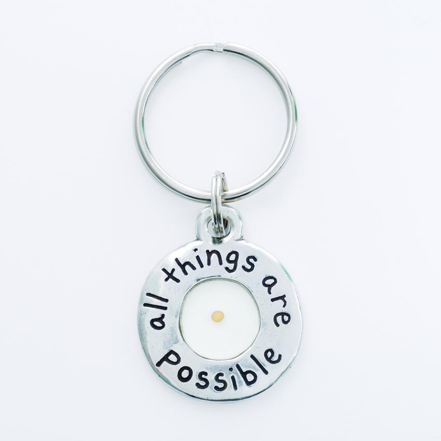 Mustard Seed Keychain All Things Are Possible