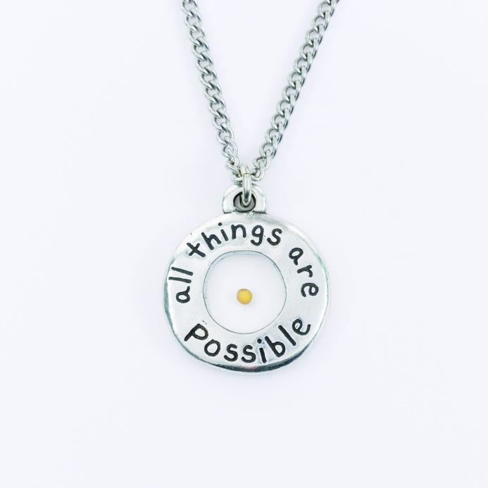 Mustard Seed Necklace - All Things Are Possible