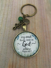 My Soul Finds Rest In God Alone Key Chain