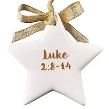 """O Holy Night"" Ornament Star"