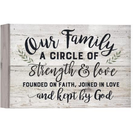 Our Family Pallet Decor Wood Plaque