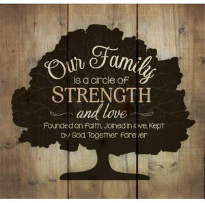 Our Family Pine Wood Plaque