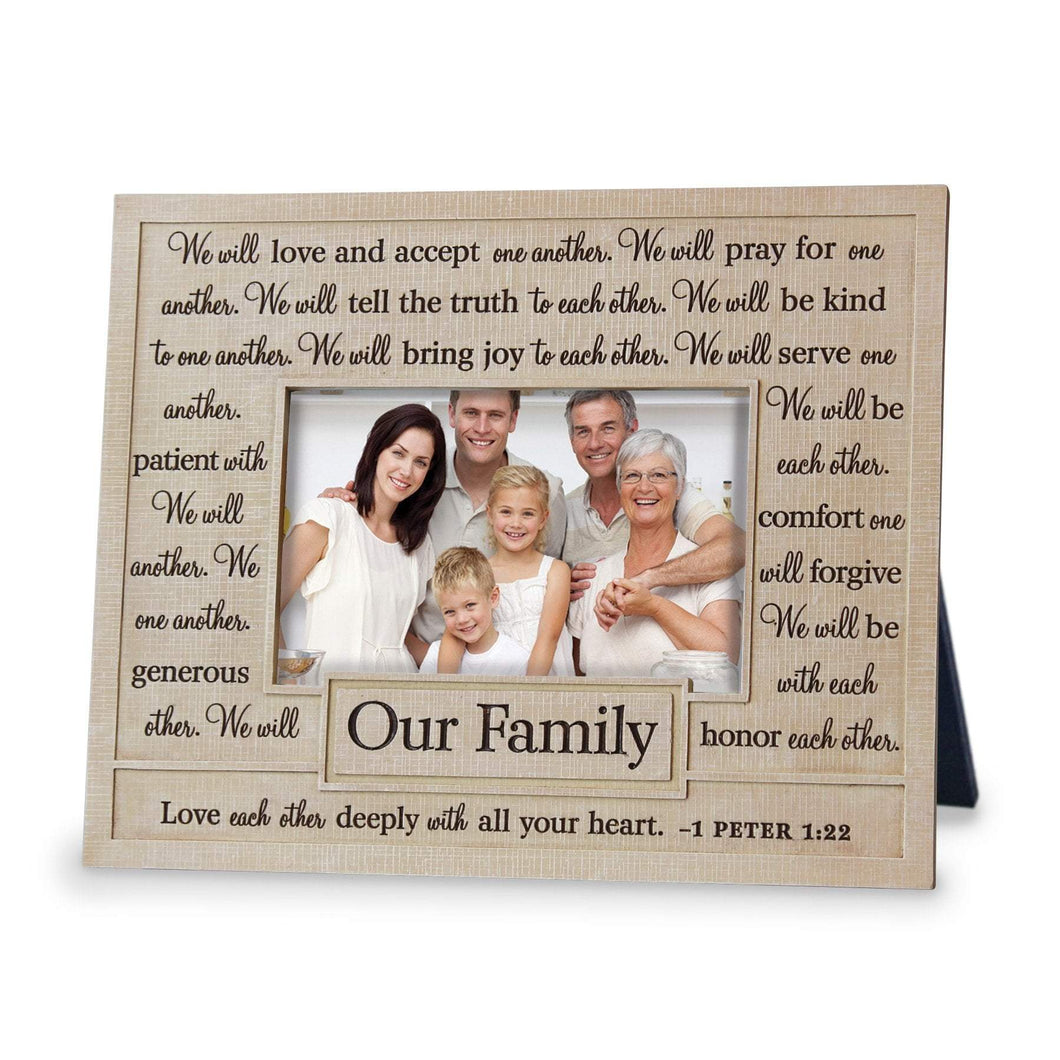 Our Family Scripture Photo Frame