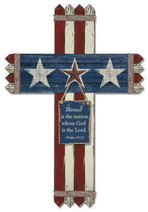 Patriotic Picket Fence Cross