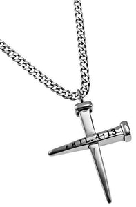 Philippians 4:13 - 2 Nail Cross Necklace