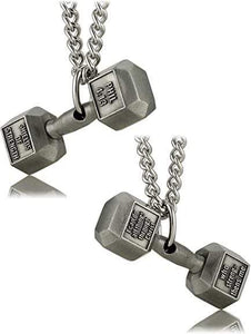 Philippians 4:13 Dumbbell Necklace