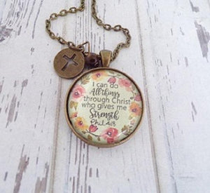 I Can Do All Things Through Christ Necklace - Atrio Hill