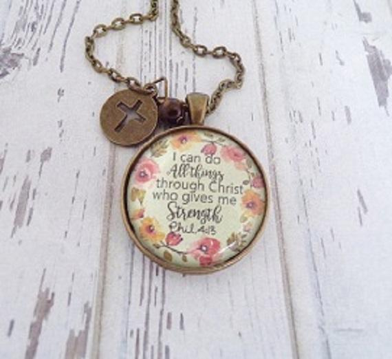 Philippians 4:13 Pendant Necklace