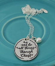 Philippians 4:13 Pewter Necklace