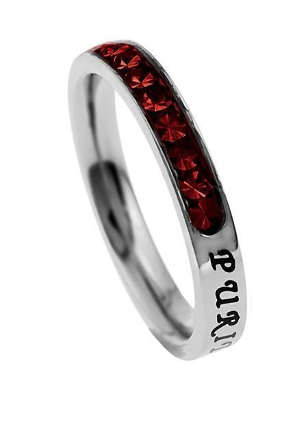 Princess Cut Purity Birthstone Ring January Garnet