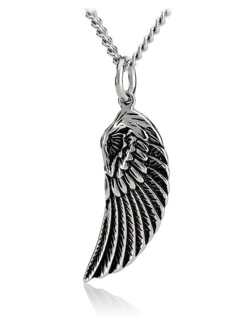 Psalm 91:11 Stainless Steel Angel Wing Necklace